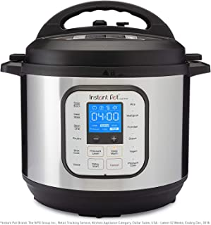 Instant Pot Duo Nova 7-in-1 Electric Pressure Cooker, Slow Cooker, Rice Cooker, Steamer, Saute, Yogurt Maker, and Warmer 8 Quart Easy-Seal Lid 14 One-Touch Programs