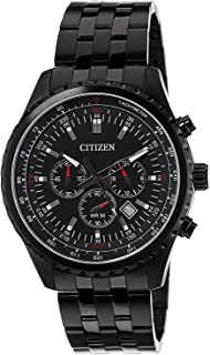 Citizen Chronograph Men's Casual Watch Analog Stainless Steel Black Dial-An8065-53e