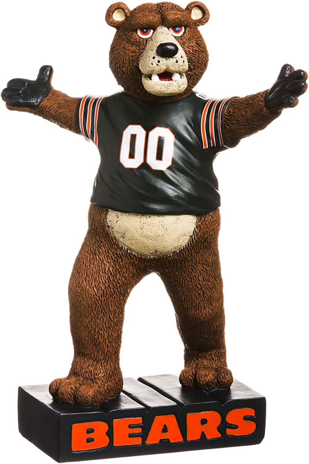 Team Sports America NFL Chicago Bears Fun Colorful Mascot Statue 12 Inches Tall
