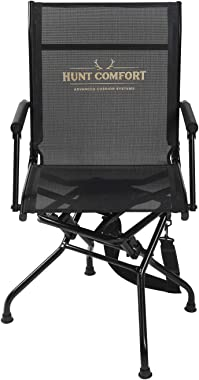 Hunt Comfort Multi Position Mesh Lite Swivel Hunting Chair (HCCC10)