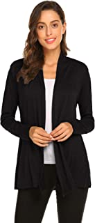 Womens Casual Lightweight Long Sleeve Cardigan Soft Drape...