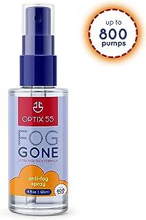 Optix 55 Anti-Fog Spray   Prevents Fogging of Glass or Plastic Windows, Mirrors, Eyewear Lenses, Glasses, Swim Goggles, Ski Masks, Binoculars & Scopes   Streak Free, Long Lasting Solution