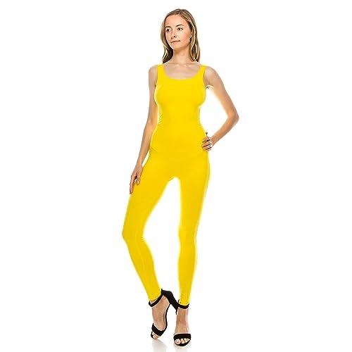 512e44eba3 The Classic Womens Stretch Cotton Sleeveless One Piece Unitard Jumpsuit  Bodysuits Small to Plus