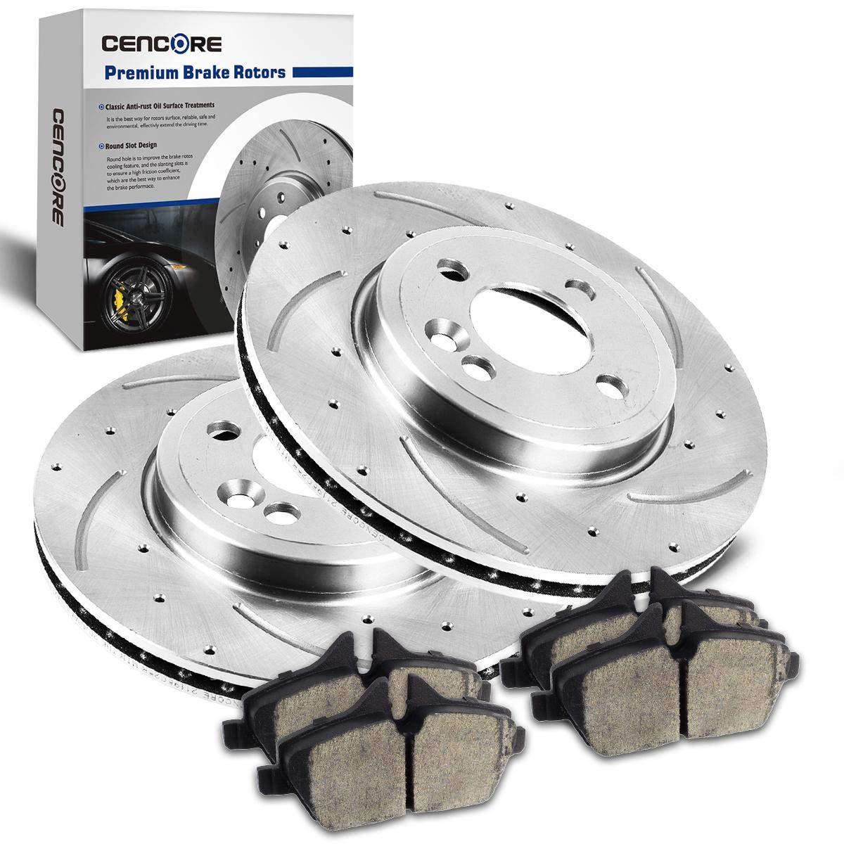 Front Kit OE Disc Brake Rotors /& Ceramic Pads For 2011-2015 Mini Cooper