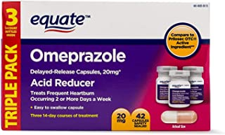 Equate - Omeprazole Magnesium 20.6 mg, Acid Reducer, Delayed Release, 42 Capsules (1)