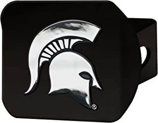 Michigan State Black Hitch Cover 4 1/2X3 3/8
