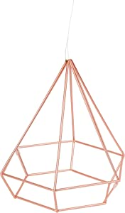 Umbra Prisma Geometric Sculptures, Decorate Your Wall with Modern Metallic Wire Shapes, Table top, Ceiling Décor, Set of 6, Copper