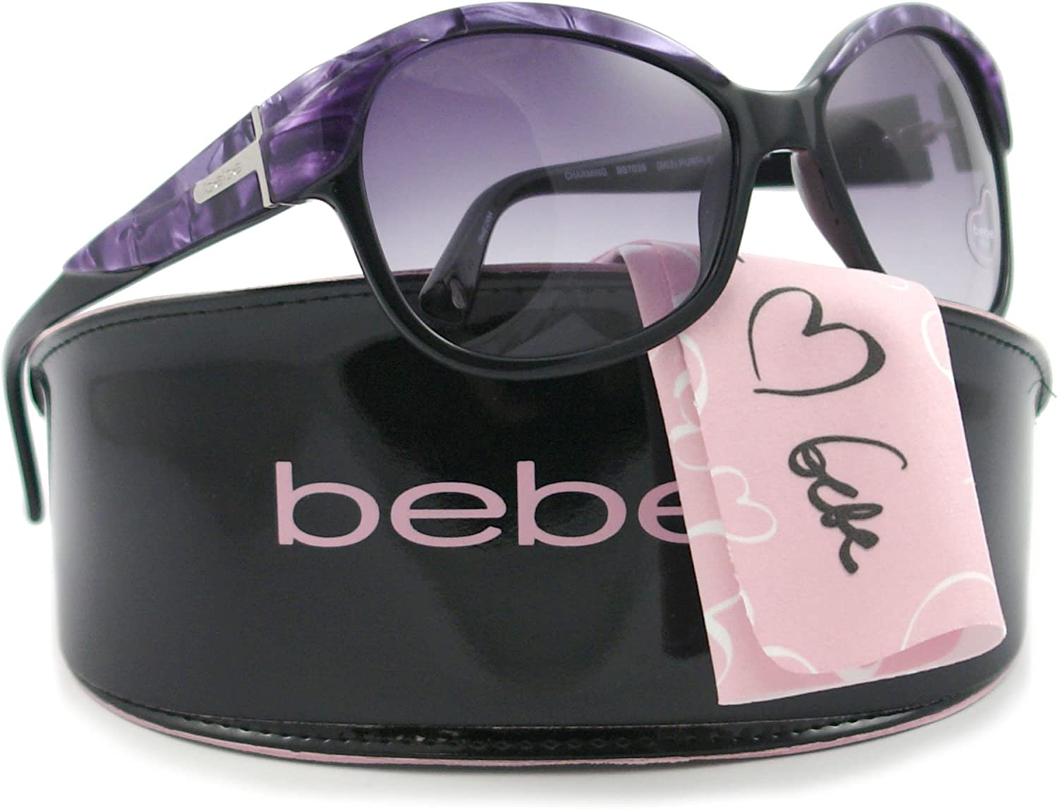 Bebe BB7039 CHARMING Sunglasses PURPLE MARBLE, 58 mm