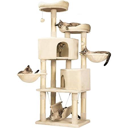 Mwpo キャットタワー 多機能 豪華な猫タワー おしゃれ 多頭飼い 人気 cattower 057A