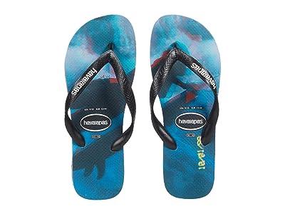 Havaianas Top Photoprint Sandal (Black/Black/Blue Star) Men