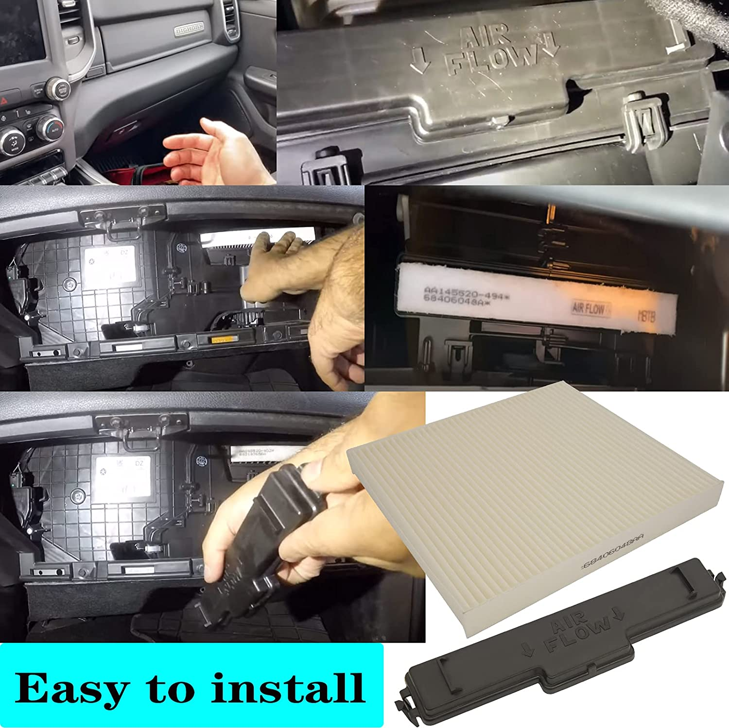 Buy 68406048aa Cabin Air Filter 68318365aa 68052292aa Cabin Air Filter Access Door Compatible With Dodge Ram 1500 2500 3500 Cabin Air Filter Kit 5058693aa Kit By Bootop Online In Poland B08z7w9j98