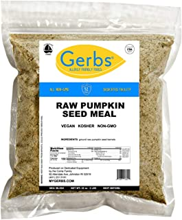 Gerbs Ground Pumpkin Seed Meal, 2 LBS - Top 14 Food Allergy Free & NON GMO - Vegan & Keto Safe – Cold Milled Full Oil Seed Protein Powder