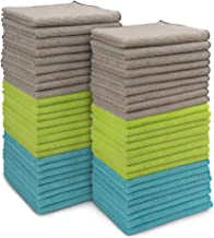 AIDEA Microfiber Cleaning Cloths All-Purpose Softer Highly Absorbent (Pack-50), Lint Free - Streak Free Wash Cloth for Hou...