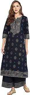 Indian Tunic Tops Cotton Kurti Set for Women