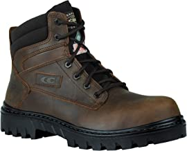 Cofra Leather Work Boots - CHICAGO Slip Resistant Footwear with Composite Safety Toe & Water Repellent Nubuck Upper
