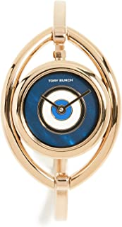Tory Burch Women's The Evil Eye Bangle Watch, 24mm, Gold/Navy, One Size