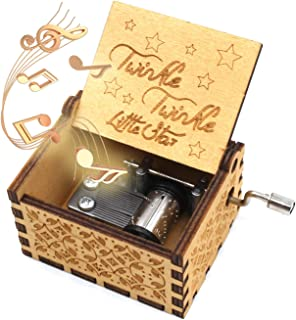 ukebobo Wooden Music Box- Twinkle Twinkle Little Star Music Box,Gifts for Kids,Birthday Party Gift - 1 Set