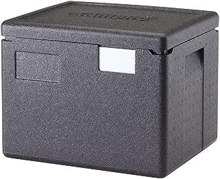 Cambro Cam GoBox Black Plastic Top Loading Half Pan Carrier - 15 2/5