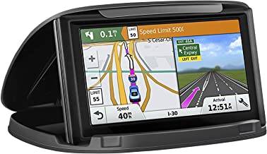 GPS Holder for Car, Cell Phone Holder Car Dashboard,Reusable Silicone Pad Universal Car Mount Cradle Compatible for Garmin GPS, iPhone Xs Mas 8 Plus,Samsung Galaxy S10 S9 S8,3 to 6.8 inch Phones