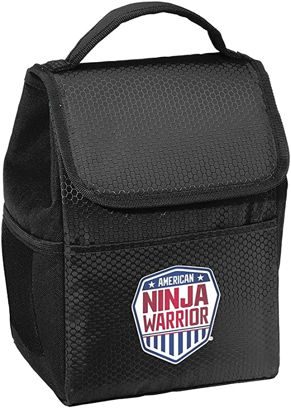 American Ninja Warrior Lunch Tote Cooler Black Perfect For ANW Fans On The Go