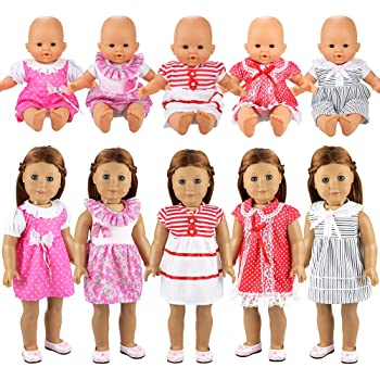 Baoblaze Puppen Kleidung Kleid Prinzessin Puppenkleid Sommer Outfit f/ür 18 Zoll Puppen A