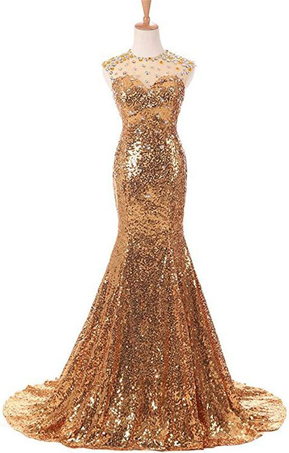 Evening Dresses, for Women Sequin V Neck Elegant Floor Length Sleeveless Sequin Long Formal Prom Party US22