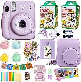 Fujifilm Instax Mini 11 Camera + Fuji Instant Instax Film (40 Sheets) & Includes Case + Assorted Frames + Photo Album + 4 ...