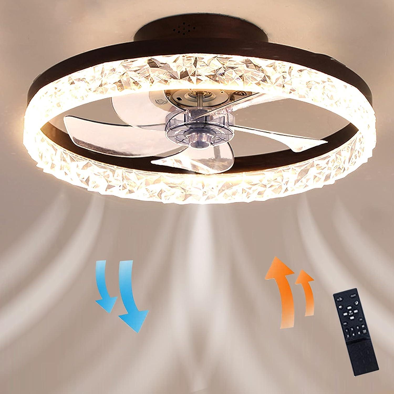 Ventilador de techo innovador Luz de techo moderna Iluminación LED Efecto de cielo estrellado regulable Temporizador silencioso de 3 intensidades Ø50 cm