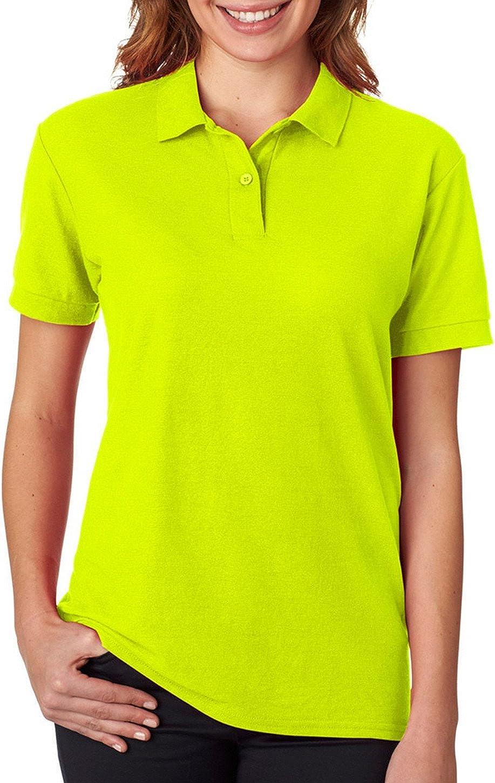 Gildan Womens DryBlend 6.3 oz. Double Piqu? Sport Shirt (G728L) -SAFETY GRE -S