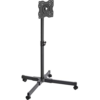 """AmazonBasics TV Trolley for 24 - 43"""" TVs with Swivel Feature, Black"""