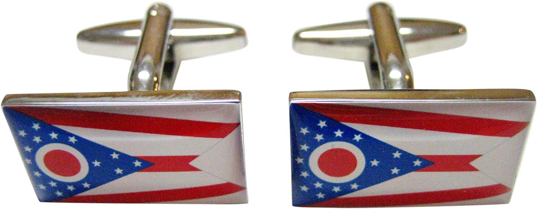 Ohio State Flag Cufflinks