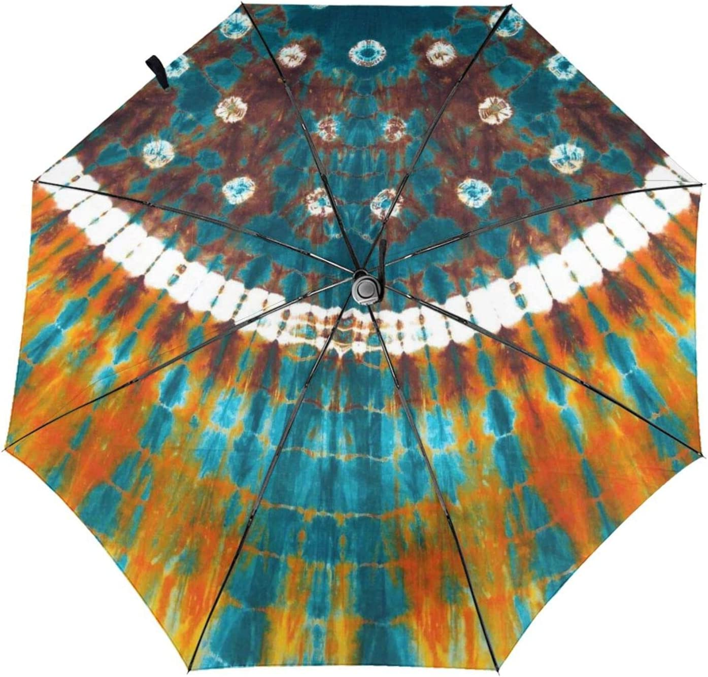 zsst Automatic Folding Umbrellas Inside Print Dye Spi Tie Indian New product!! Genuine Free Shipping