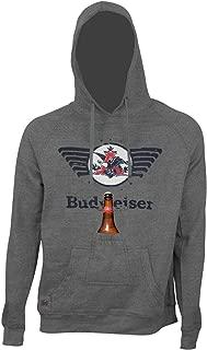 Bud Budweiser Eagle Logo Bottle Opener Beer Pouch Hoodie