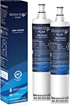 Waterdrop Plus 4396508 Refrigerator Water Filter, Compatible with Whirlpool 4396508, 4396510, NLC240V, 4392857, Kenmore 46-9010, EveryDrop Filter 5, EDR5RXD1, Reduces Chlorine, NSF 401&53&42, 2 Pack