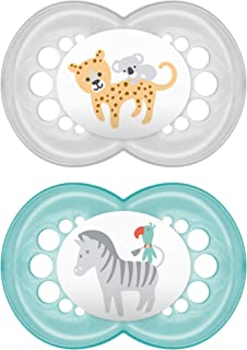 Mam Pacifiers, Baby Pacifier 16+ Months, Best Pacifier For Breastfed Babies, 'Original' Design Collection, Unisex, 2Count