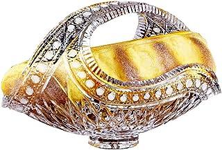 Bonbonnière en Verre avec Couvercle Lot, Cristal de Style Européen Bol de Fruits Sculpté à La Main Bol Corbeille de Fruits...