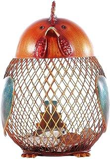 Saving Money Box Piggy Bank Metal Iron Creative Simple Chicken Change Grid Hollowed Out Piggy Bank Girl Ins Gift Money Box...