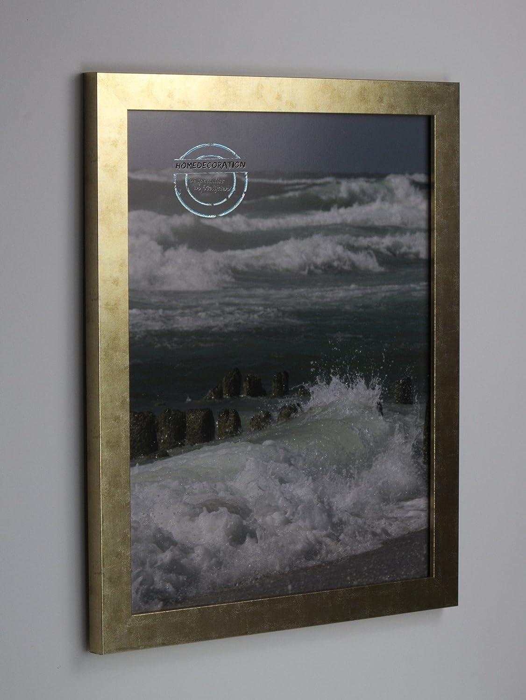 80% de descuento Marco Kiruna 50 x 60 60 60 cm MDF, marco estable en el estilo Bauhaus 60 x 50cm, Color seleccionado  oro antiguo con vidrio acrílico transparente 1mm  centro comercial de moda