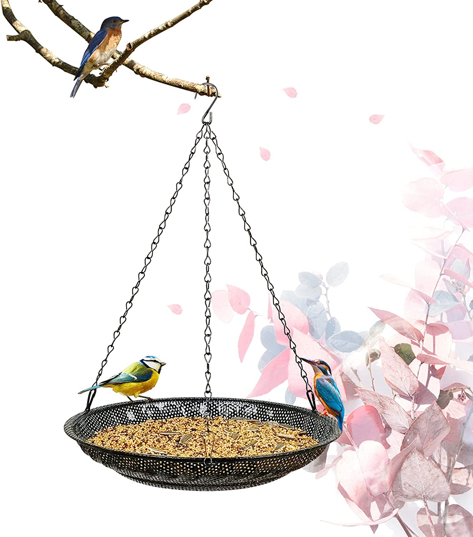 "CQAIRIOU Premium Sales Hanging Bird Feeder Size Tray Large Brand Cheap Sale Venue 11.8"""