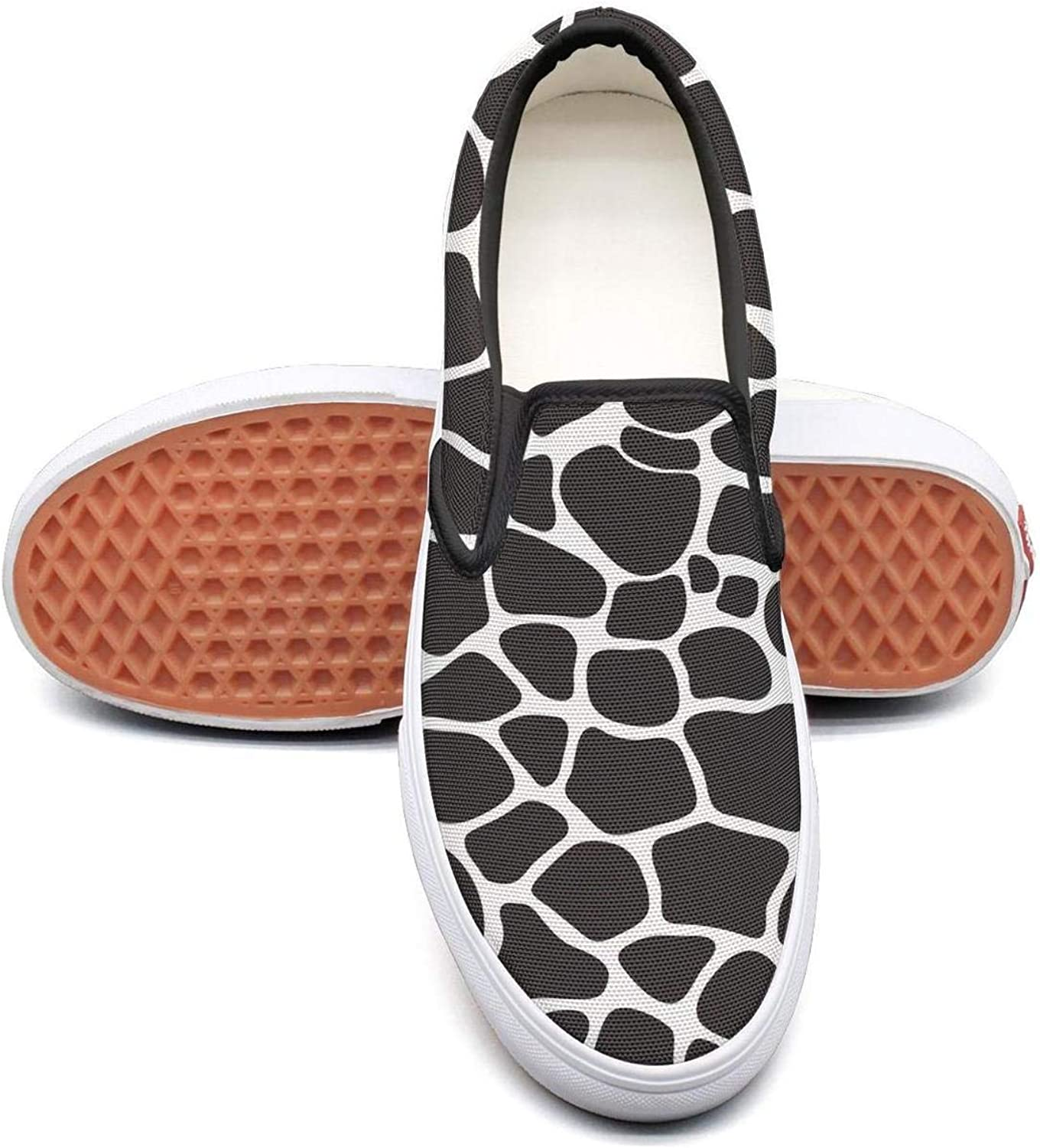 SOFIE MARTIN Black Giraffe Skin Print Women Girls Leisure shoes Low Top Lightweight Breathable