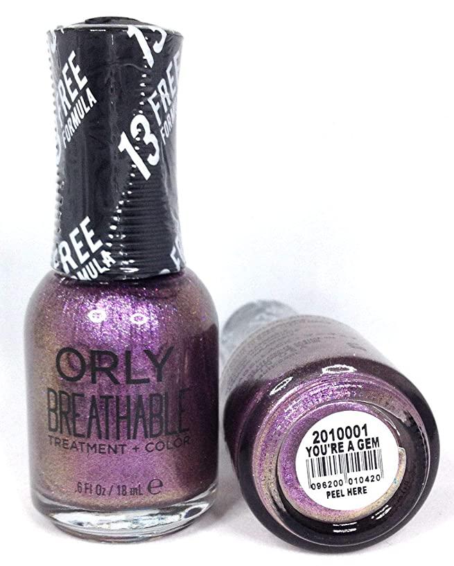 バース姿を消す一次ORLY Breathable Lacquer - Treatment+Color - You're A Gem - 18 mL / 0.6 oz