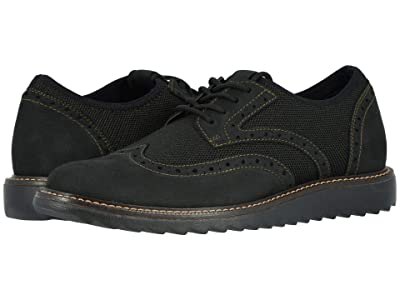 Dockers Hawking Knit/Leather Smart Series Dress Casual Wingtip Oxford with NeverWet (Bronze/Black Textile/Nubuck) Men