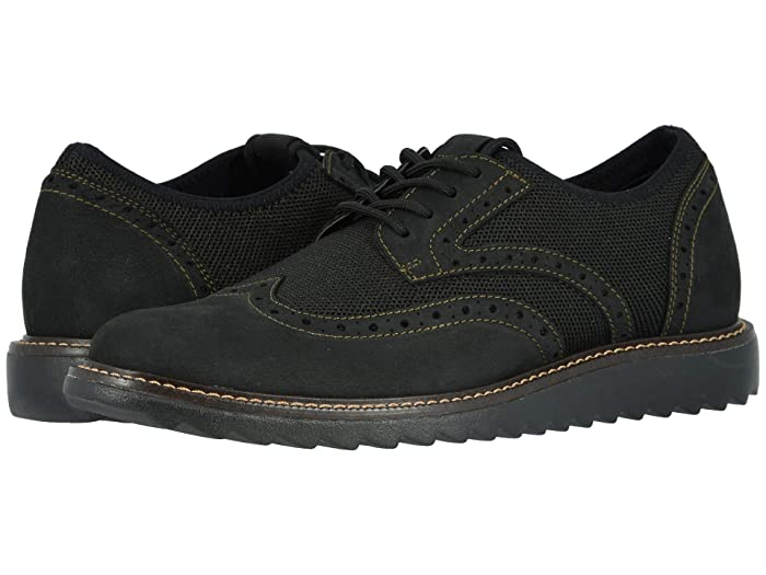 Dockers  Hawking Knit/Leather Smart Series Dress Casual Wingtip Oxford with NeverWet (Bronze/Black Textile/Nubuck) Mens Lace up casual Shoes