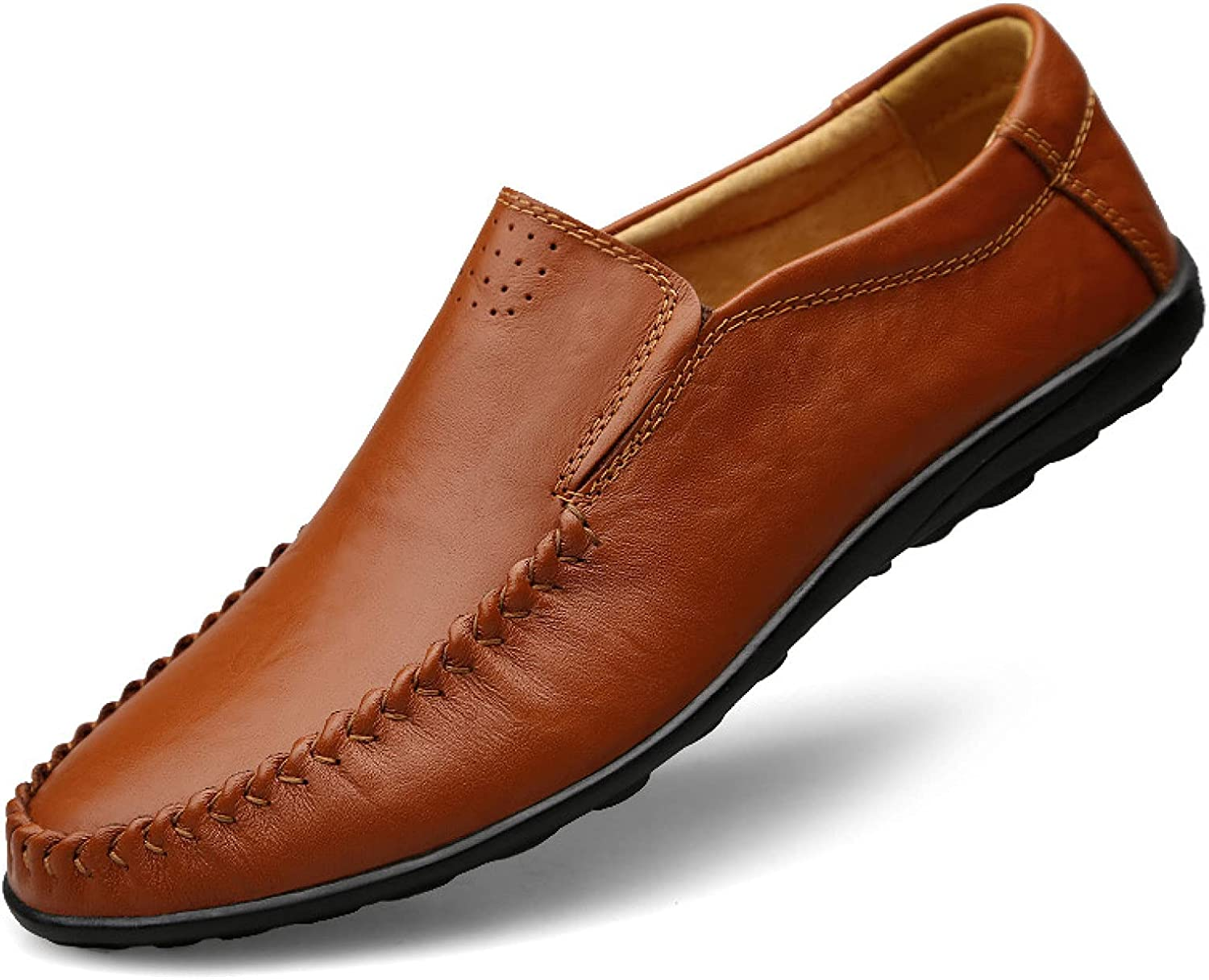 Men Luxury Leather Slip-on Driving Shoes Walking Wearable Simplicity Loafers Popular Business Male Durable Flats