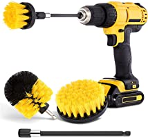 Drill Brush Attachment Set - Power Scrubber Brush Cleaning Kit - All Purpose Drill Brush for Bathroom Surfaces, Grout,...