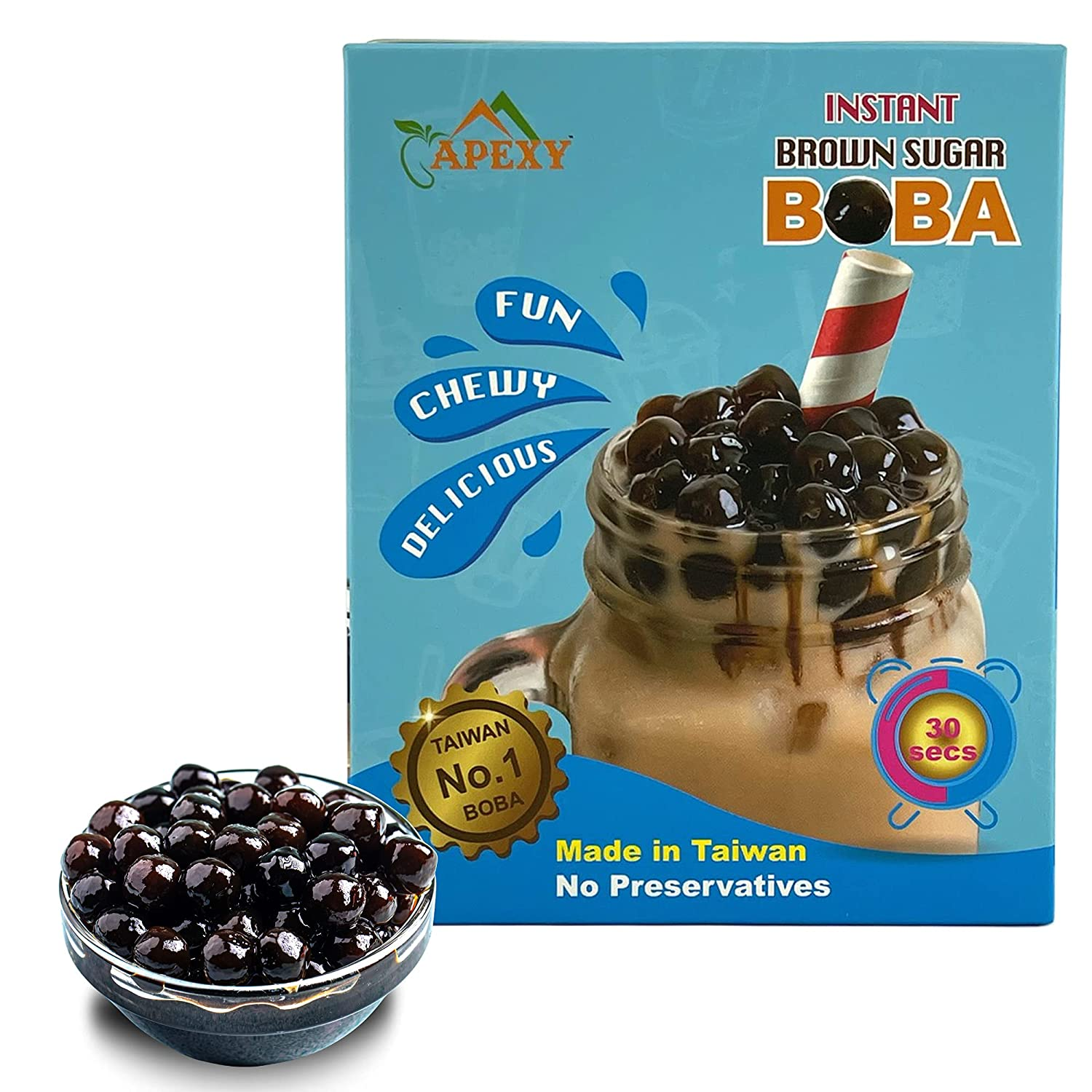 APEXY Instant Boba Pearls Ready in 30 Brown Seconds Dealing full price reduction National products Sugar Tapi