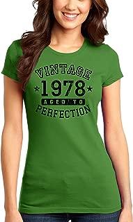 TooLoud 1978 - Vintage Birth Year Juniors T-Shirt Brand