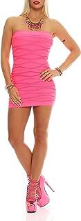 S M L XL 2XL 3XL AE elomoda Kleid Lang Maxi Kleid mit Schleife Gr