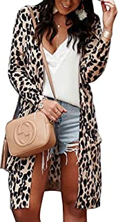 Best oversized leopard print cardigan Reviews