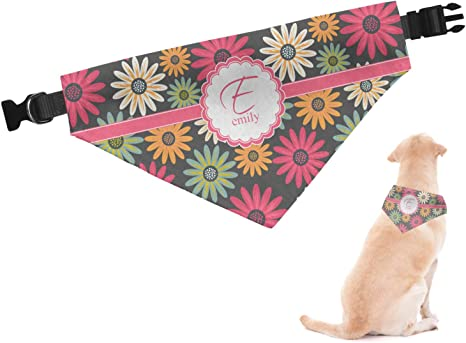Purple Daisy Dog Bandana Dog Floral Bandana Snap Bandana Floral Dog Bandana Dog Bandanas Cat Bandana Dog Tie Bandana Fabric Bandana